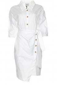 AnnaRita N |  Dress with wrap detail Lova | white  | Picture 1
