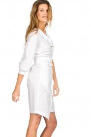 AnnaRita N |  Dress with wrap detail Lova | white  | Picture 5
