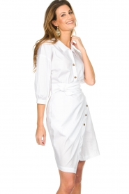 AnnaRita N |  Dress with wrap detail Lova | white  | Picture 4