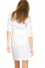 AnnaRita N |  Dress with wrap detail Lova | white  | Picture 6