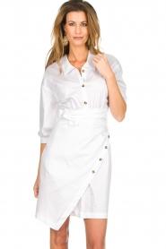 AnnaRita N |  Dress with wrap detail Lova | white  | Picture 2