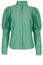 Notes Du Nord |  Puff sleeve blouse Nila | green