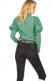 Notes Du Nord |  Puff sleeve blouse Nila | green  | Picture 7