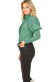 Notes Du Nord |  Puff sleeve blouse Nila | green  | Picture 6