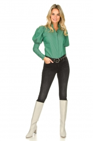 Notes Du Nord |  Puff sleeve blouse Nila | green  | Picture 3