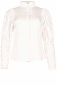 Notes Du Nord |  Puff sleeve blouse Nila | white  | Picture 1