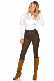 Notes Du Nord |  Puff sleeve blouse Nila | white  | Picture 3