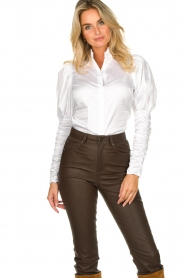Notes Du Nord |  Puff sleeve blouse Nila | white  | Picture 2