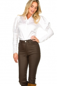 Notes Du Nord |  Puff sleeve blouse Nila | white  | Picture 4