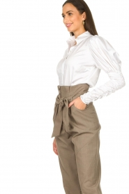 Notes Du Nord |  Puff sleeve blouse Nila | white  | Picture 6