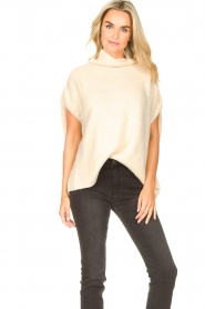 JC Sophie |  Oversized knitted spencer Jo-Marie | creme  | Picture 2