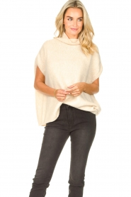 JC Sophie |  Oversized knitted spencer Jo-Marie | creme  | Picture 4