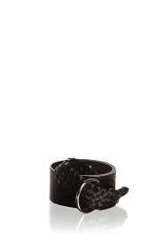 AnnaRita N |  Belt with braided details Astrid | black  | Picture 1