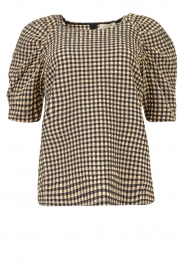 Notes Du Nord |  Top with puff sleeves Riley | blue  | Picture 1