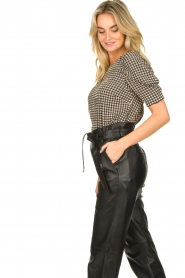 Notes Du Nord |  Top with puff sleeves Riley | blue  | Picture 5