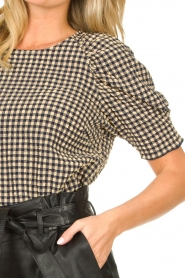 Notes Du Nord |  Top with puff sleeves Riley | blue  | Picture 7
