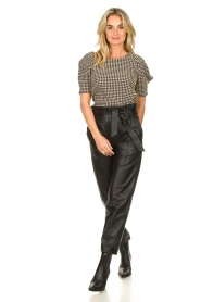 Notes Du Nord |  Top with puff sleeves Riley | blue  | Picture 3