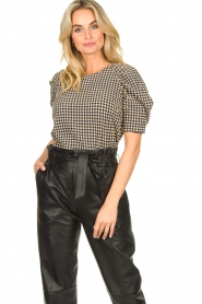Notes Du Nord |  Top with puff sleeves Riley | blue  | Picture 2