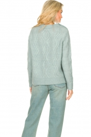 JC Sophie |  Knitted sweater with buttons Joujou | sea green  | Picture 6
