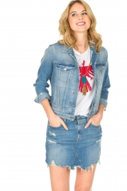 7 For All Mankind |  Denim jacket Eclipse | blue  | Picture 4