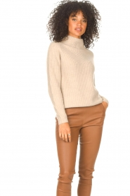 JC Sophie |  Knitted sweater Joyce | light brown   | Picture 2