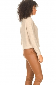 JC Sophie |  Knitted sweater Joyce | light brown   | Picture 5