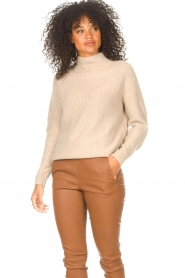 JC Sophie |  Knitted sweater Joyce | light brown   | Picture 4