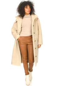 JC Sophie |  Knitted sweater Joyce | light brown   | Picture 3