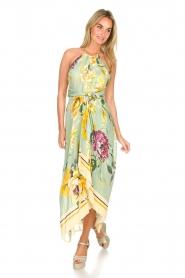 AnnaRita N |  Floral maxi dress Christy | groen  | Picture 3