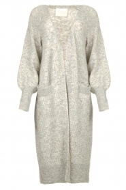 Notes Du Nord |  Long puff sleeve cardigan Rhonda | grey  | Picture 1