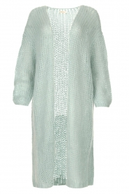 JC Sophie |  Crochet long cardigan Jo-Anne | light blue  | Picture 1
