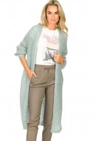 JC Sophie |  Crochet long cardigan Jo-Anne | light blue  | Picture 4