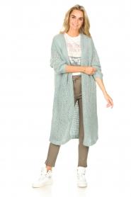 JC Sophie |  Crochet long cardigan Jo-Anne | light blue  | Picture 3