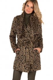 MICHAEL Michael Kors | Jas Leopard | camel/zwart  | Afbeelding 2