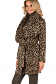 MICHAEL Michael Kors | Jas Leopard | camel/zwart  | Afbeelding 4
