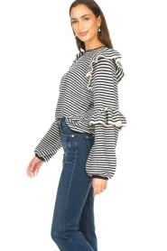 Notes Du Nord | Striped ruffle sweater Monica | blue  | Picture 6