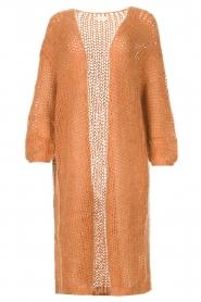JC Sophie |  Crochet long cardigan Jo-Anne | rusty brown  | Picture 1