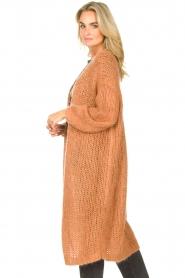 JC Sophie |  Crochet long cardigan Jo-Anne | rusty brown  | Picture 5