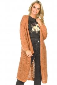 JC Sophie |  Crochet long cardigan Jo-Anne | rusty brown  | Picture 2