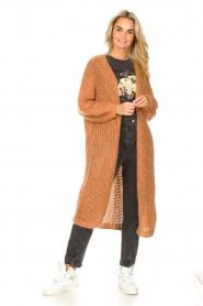 JC Sophie |  Crochet long cardigan Jo-Anne | rusty brown  | Picture 3