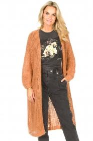 JC Sophie |  Crochet long cardigan Jo-Anne | rusty brown  | Picture 4