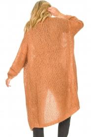 JC Sophie |  Crochet long cardigan Jo-Anne | rusty brown  | Picture 6