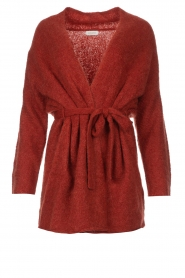 JC Sophie |  Knitted wrap cardigan Jilly | red  | Picture 1