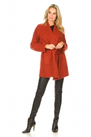JC Sophie |  Knitted wrap cardigan Jilly | red  | Picture 3