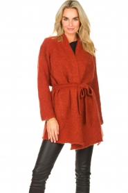 JC Sophie |  Knitted wrap cardigan Jilly | red  | Picture 2
