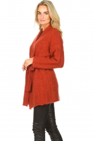 JC Sophie |  Knitted wrap cardigan Jilly | red  | Picture 5