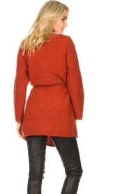 JC Sophie |  Knitted wrap cardigan Jilly | red  | Picture 6