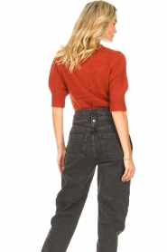 JC Sophie |  Knitted sweater with puff sleeves Jillian | red  | Picture 6