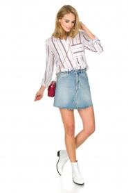 IKKS | Gestreepte blouse Aurore | wit  | Afbeelding 3