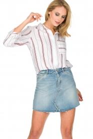IKKS | Gestreepte blouse Aurore | wit  | Afbeelding 4